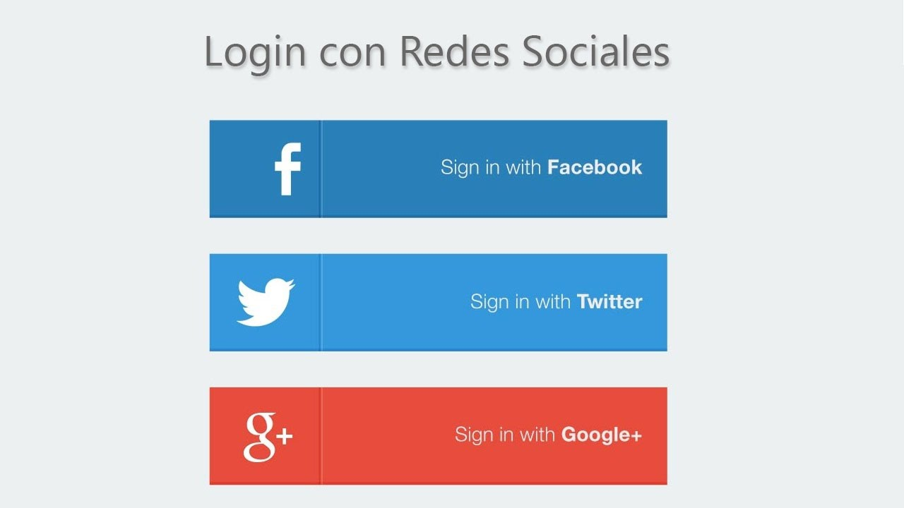 Login con redes sociales PHP 1/6 - YouTube