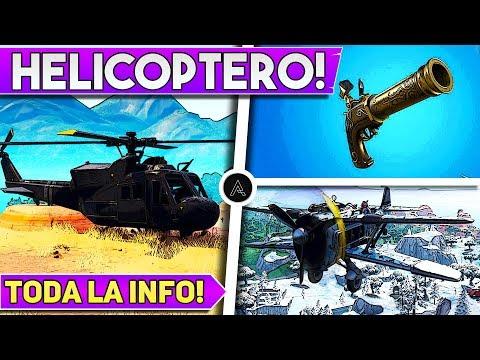 🔥 PARCHE 8.11   Helicóptero   Nueva Pistola   Desafíos Semana 4   Aviones Regresan - Fortnite