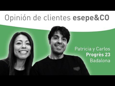 Conversación con clientes - Patricia y Carlos de Progrès 23 en Badalona