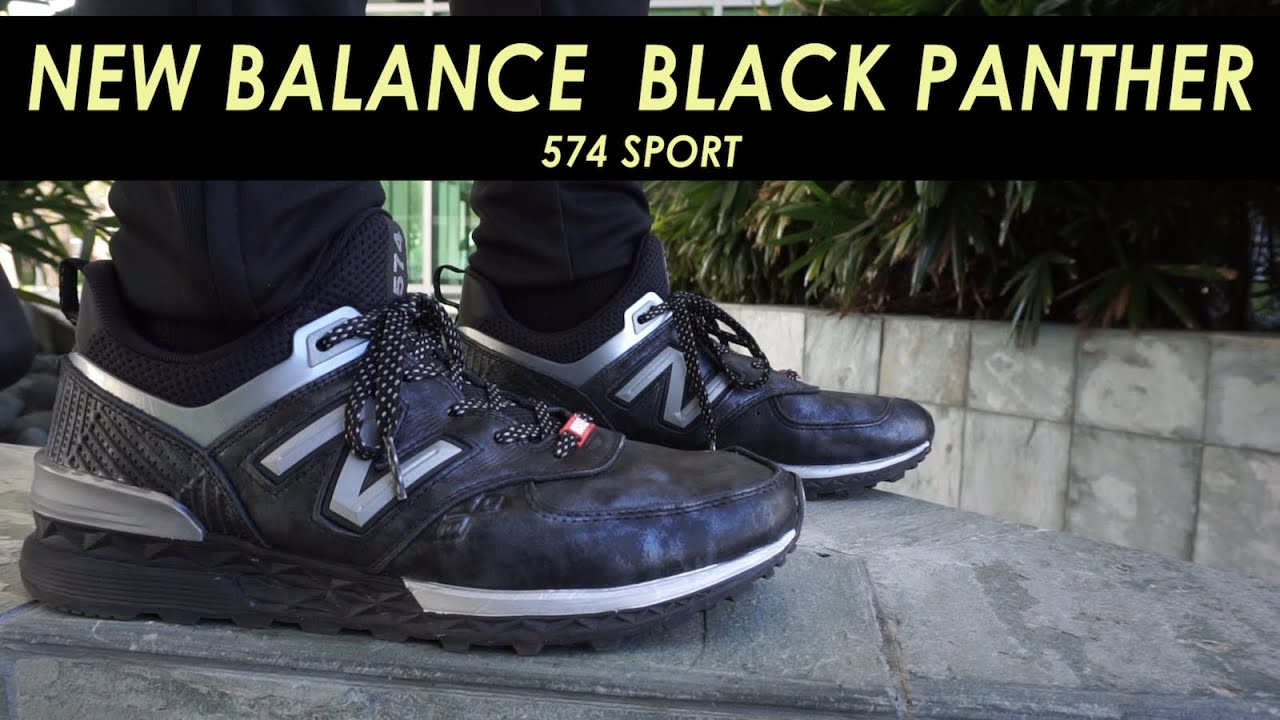 newest 7bb5d 6cd26 Black Panther New Balance 574 Sport shoe visualizer