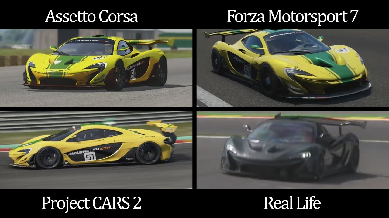Assetto corsa vs forza 7 vs project cars 2 vs real life - Project cars mclaren p1 ...