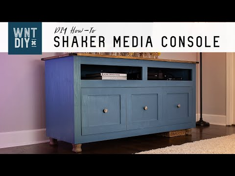 How to Build a Shaker Style Media Console // DIY Woodworking