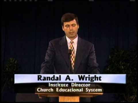 Education Week 2000 - Randal Wright - Standing up to Worldly
