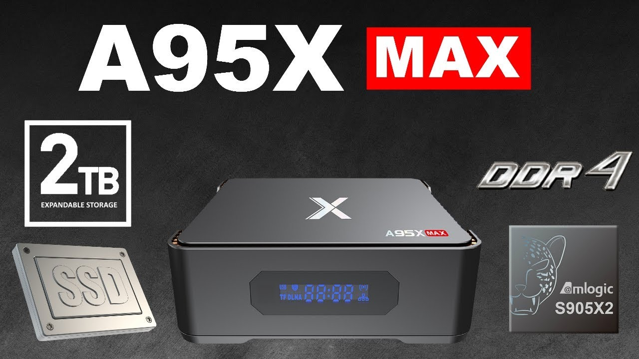 A95X Max TV Box Monster Expandable Storage 2TB Max Android 8.1