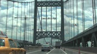 Scenic drive into Manhattan from George Washington Bridge to Delancey Street, New York City, USA
