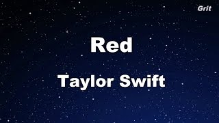 Red - Taylor Swift Karaoke【With Guide Melody】