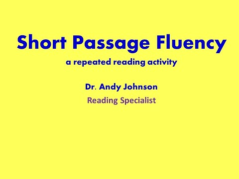Short Passage Fluency: Repeated Reading