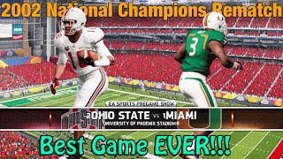 BEST GAME EVER | Miami vs Ohio State National Championship | NCAA Football Dynasty