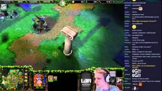 Warcraft III 2vs2 с картёжником