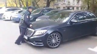 Гаишник пытался остановить нарушителя - Видео приколы ржачные до слез русские 2017