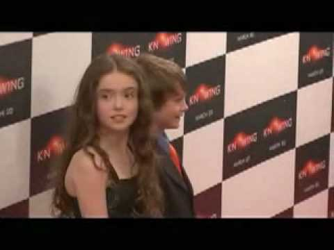 Knowing NY Premiere  Chandler Canterbury & Lara Robinson posing on the Red Carpet