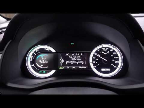 Kia Niro Winter driving economy - Instant fuel economy display use