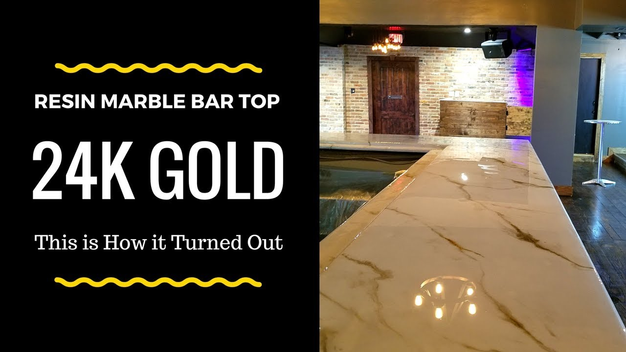 STUNNING Gold Marble Bar Top (88 Sqft) The Final Piece