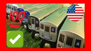 HD compilation unpack 9 different  Munipals wooden  toy trains (03749 z)