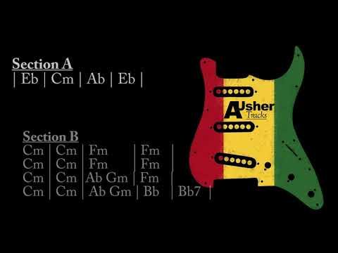 Reggae Eb Major   Guitar Jam Track   1 Hour EDITION