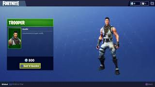Uncommon Trooper Outfit Character Skin for Fortnite Battle Royale