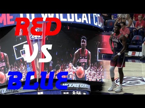 University of Arizona RED VS BLUE GAME | Deandre Ayton is PRO READY 21 Points, 9 Rebounds