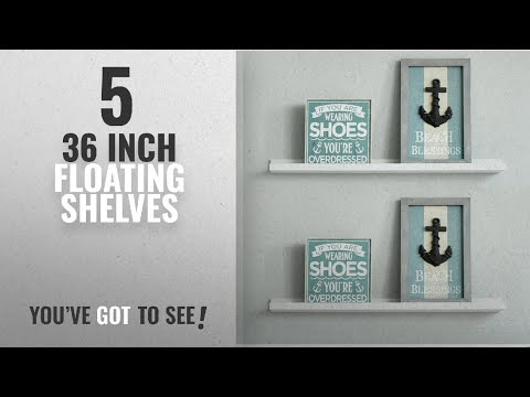 Top 10 36 Inch Floating Shelves [2018 ]: WELLAND Vista Picture Ledge Floating Ledge Wall Shelves,
