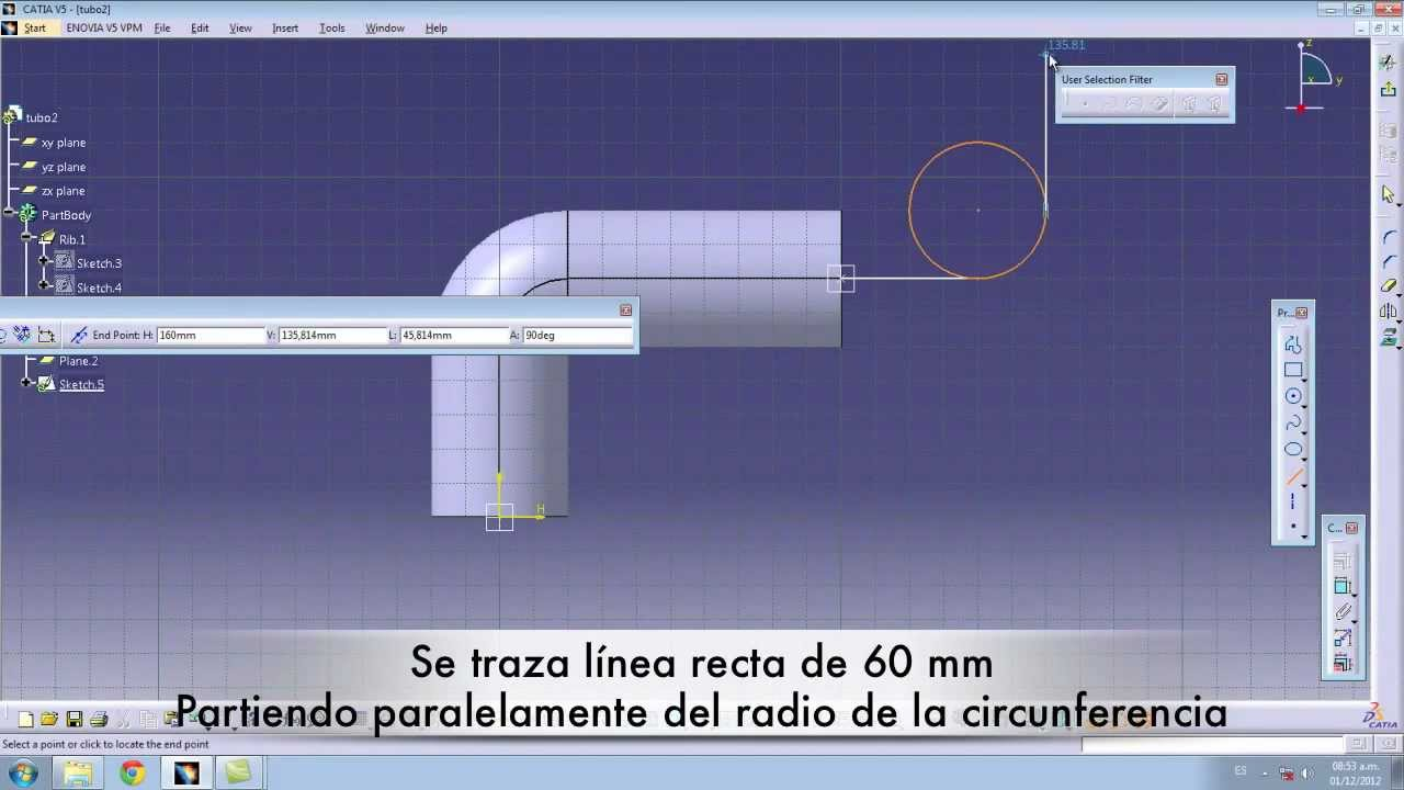 Tutorial diseño de tuberias catiaV5.mp4 - YouTube
