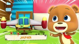 loco nødder | jetpack | sjove videoer til børn | Funny Cartoon | New Kids Show | Baby Video