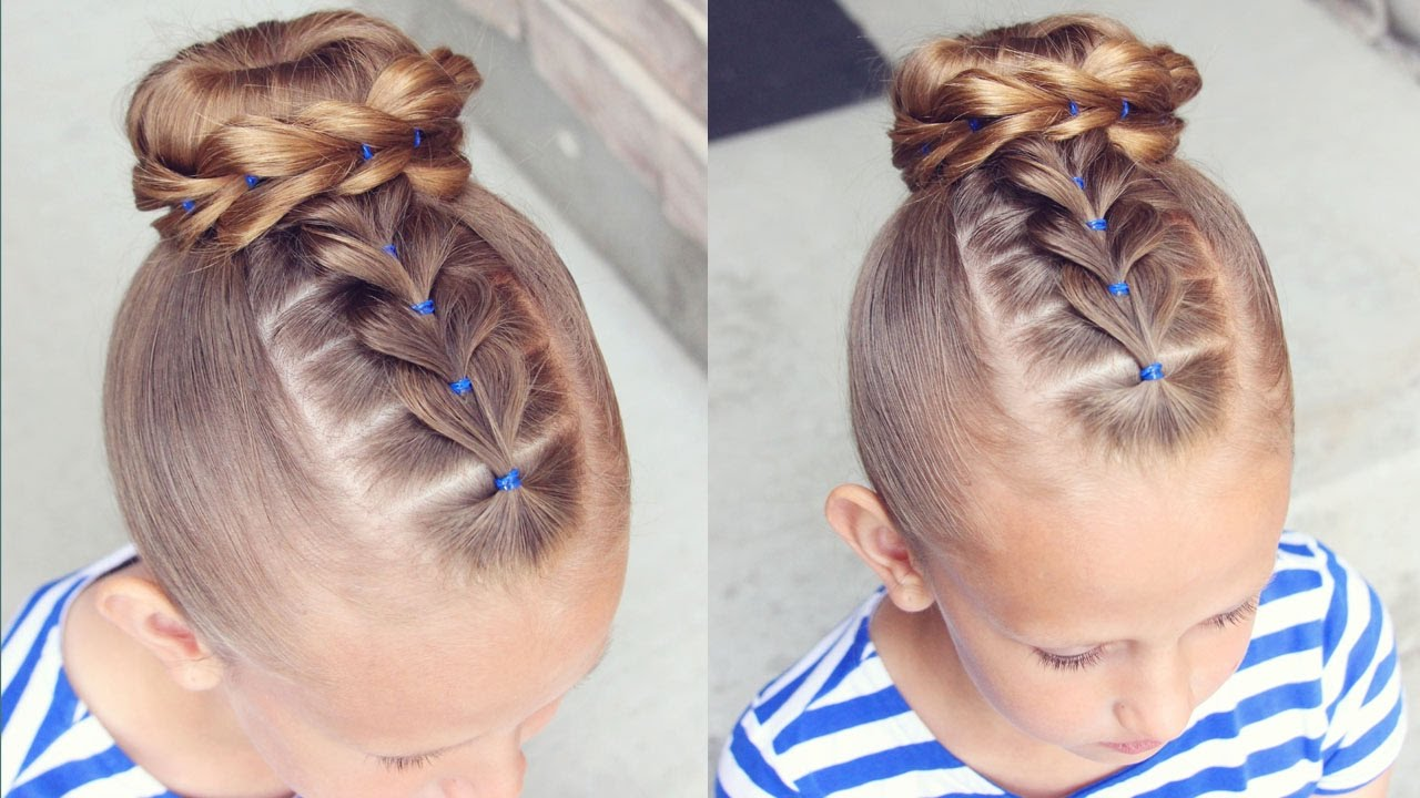 how to: pull through bun hairstyle | little girl hairstyles