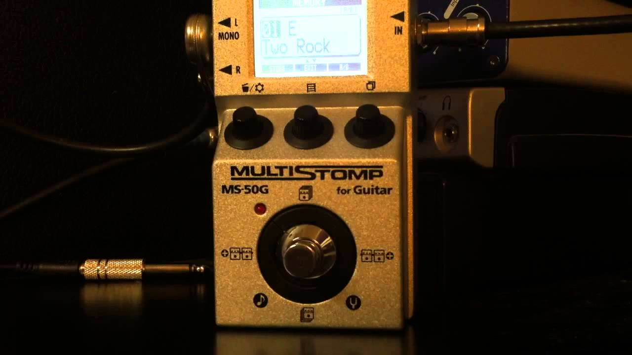 zoom ms 50g the worlds first single pedal sized multi effects unit youtube. Black Bedroom Furniture Sets. Home Design Ideas