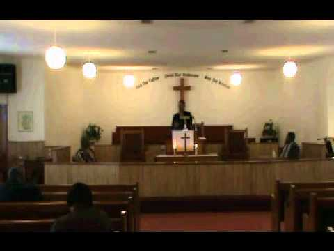 Reverend Julius E. Giddens IV of Wilson Chapel AME Church in Grove Hill Alabama Sermon 1 Part 1