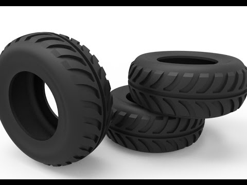 3D modelling Tire in AutoCAD
