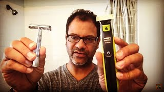 safety razor vs. Philips Norelco's One Blade | day 231