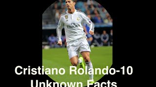 Cristiano Ronaldo- 10 Unknown Facts