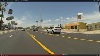 Arizona State Route 85 Highway north through Gila Bend, Arizona, 23 May 2014, GP022989