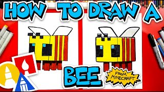 How To Draw A Minecraft Bee