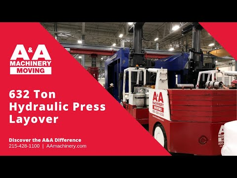 Machinery Rigging - 632 Ton Schuler Hydraulic Press Layover  (Time Lapse)