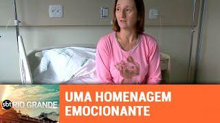 Professora que luta contra câncer recebe homenagem emocionante de alunos - SBT Rio Grande - 19/03/19
