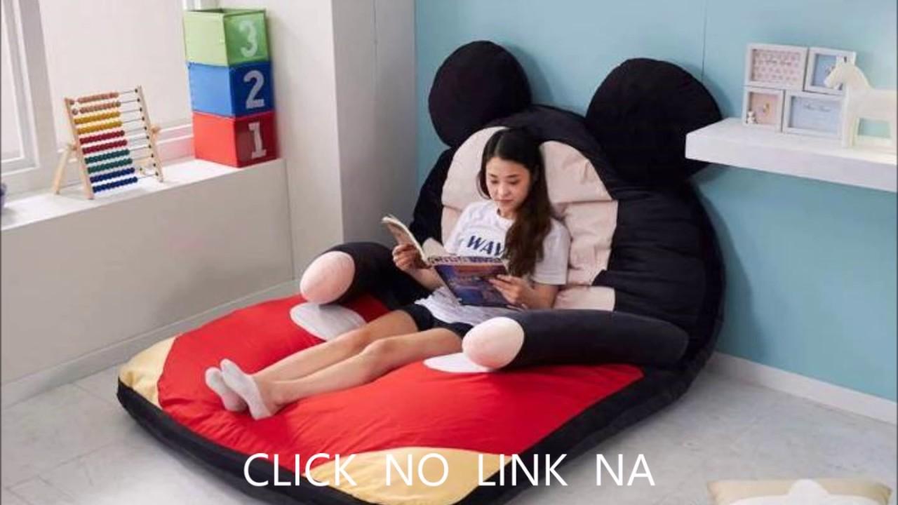 mickey minnie saco de dormir almofada gigante puff
