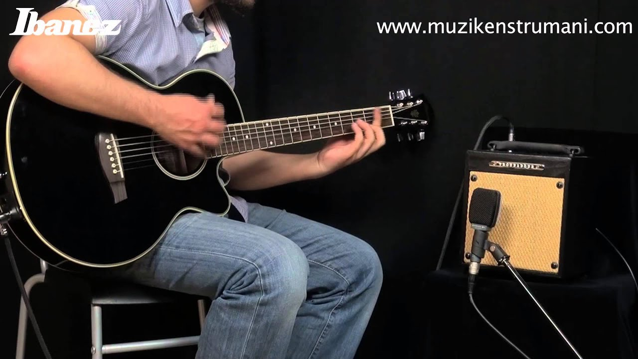 ibanez aeg8e bk elektro akustik ve ibanez ibz10g amfi youtube