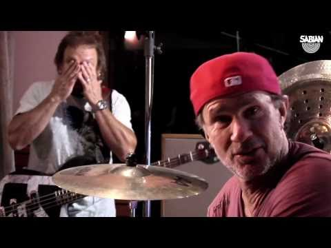Chad Smith and Michael Anthony with the Sabian Holy China