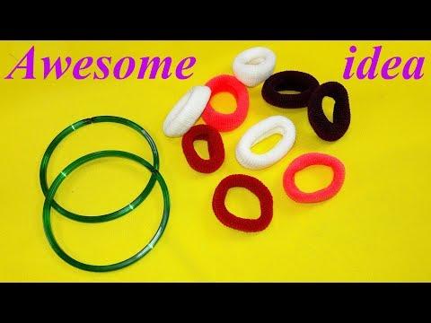 Best craft idea   Diy old bangles reuse idea   DIY arts and crafts   Awesome craft idea