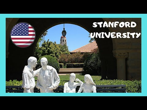 The beautiful CAMPUS of STANFORD UNIVERSITY, Stanford (Calif