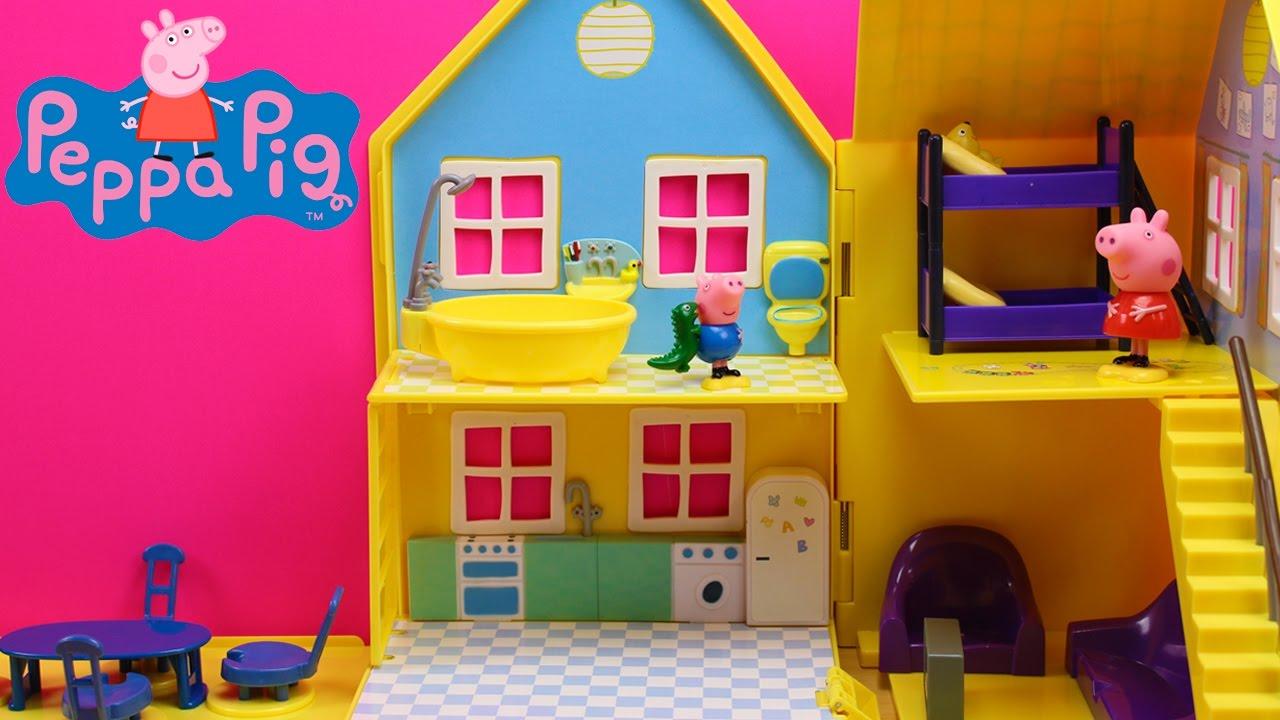 Casa de Peppa Pig en espaol de BANDAI  Casita de juguete de Peppa pig y George  YouTube
