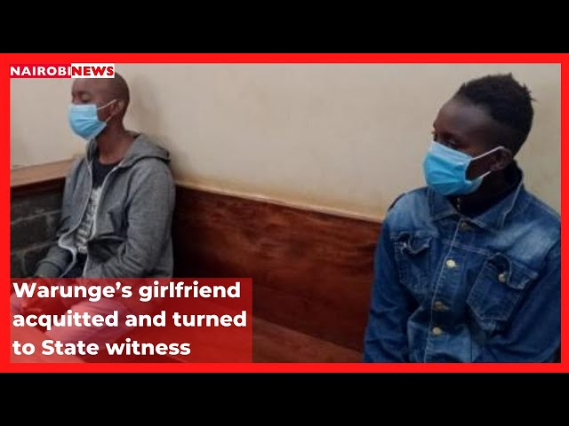 Sarah Muthoni to act as a witness for the prosecution against her boyfriend Lawrence Warunge.