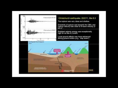 Earthquake Lecture One: Geological and Seismological Context - 27 July 2011