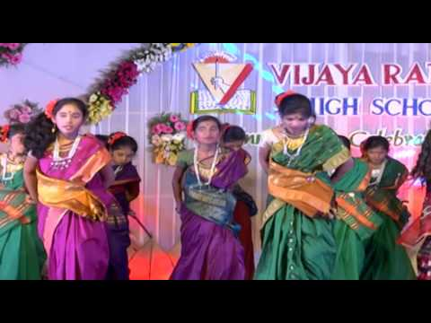 podala podala gatla meeda song performed by vijaya ratna students.