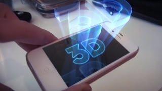 Как сделать 3D галограмму на телефоне