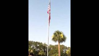 National Anthem by Parris Island Marine Band and Colors at