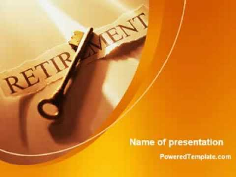 Retirement pension plan powerpoint template by poweredtemplate retirement pension plan powerpoint template by poweredtemplate youtube toneelgroepblik Images