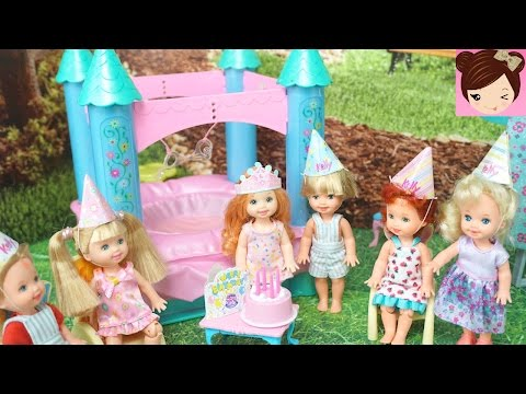 Frozen Anna Toddler Birthday Party with Bounce House & Barbie Photobooth fun
