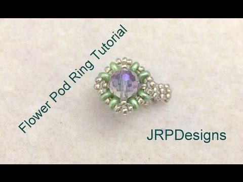 Flower Pod Ring Tutorial--Beginner Beading Tutorials