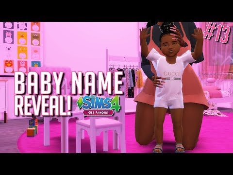 Baby Name Reveal! | The Sims 4 Get Famous LP #13