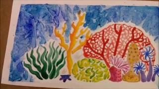 Acuarela Watercolor Coral